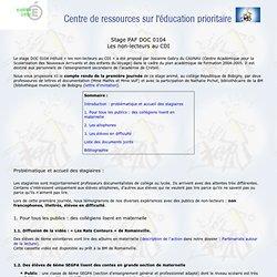 Centre de ressources sur l'éducation prioritaire Créteil