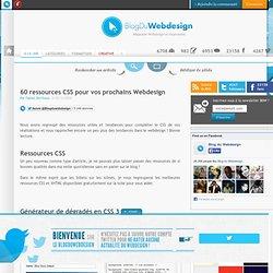 60 ressources CSS pour vos prochains Webdesign - ressources