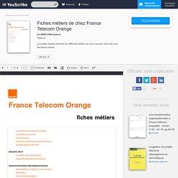 Fiches métiers de chez France Telecom Orange - DIRECTION - Ressources professionnelles