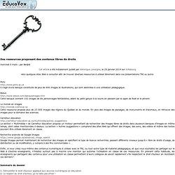 Des ressources proposant des contenus libres de droits