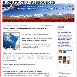 Bulletin Spécial Psycho-Ressources – Découverte de Soi Blog