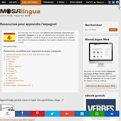 Ressources pour apprendre l'espagnol