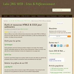 Outils et ressources HTML5 & CSS3 pour webmasters