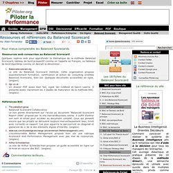 Ressources et references Balanced scorecard de R. kaplan et D. Norton