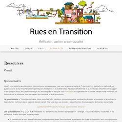 Ressources - Rues en Transition