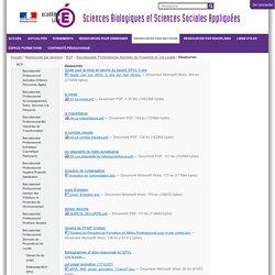 Ressources — Sciences Biologiques et Sciences Sociales Appliquées