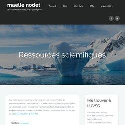 Ressources scientifiques - maëlle nodet