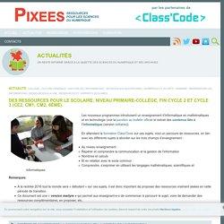 Des ressources pour le scolaire, niveau primaire-collège, fin cycle 2 et cycle 3 (CE2, CM1, CM2, 6ème).
