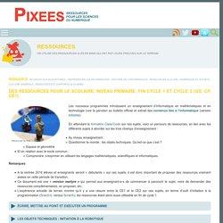 Des ressources pour le scolaire, niveau primaire, fin cycle 1 et cycle 2 (GS, CP, CE1). — Pixees