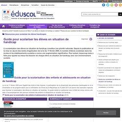 Guides pour scolariser les élèves handicapés - Guides «Scolariser les élèves handicapés»