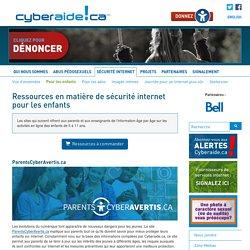 Ressources en matière de sécurité internet pour les enfants