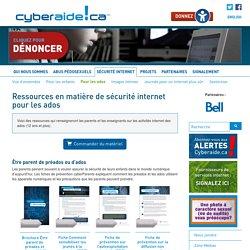 2-RESSOURCES en matière de sécurité internet pour les ADOS