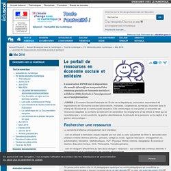Le portail de ressources en économie sociale et solidaire — Enseigner avec le numérique