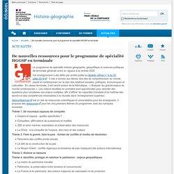 De nouvelles ressources pour le programme de spécialité HGGSP en terminale-Histoire-géographie-Éduscol