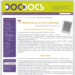 Ressources sur le livre numérique