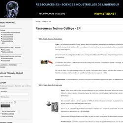 Ressources Techno Collège - EPI