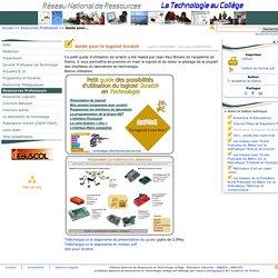 Guide pour le logiciel Scratch- Réseau National de Ressources Technologie en collège
