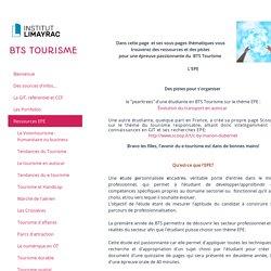 Ressources EPE - BTS Tourisme Limayrac Toulouse Agnès ROBIRA