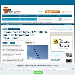 Ressources en ligne et MOOC : la quête de formation des travailleurs