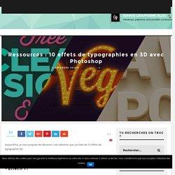 Ressources : 10 effets de typographies en 3D avec Photoshop