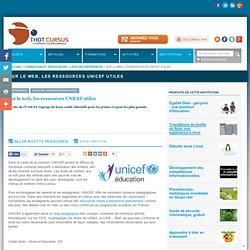 Sur le web, les ressources UNICEF utiles