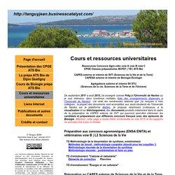 Cours et ressources universitaires - Tanguy Jean - SVT CAPES Agrégation BCPST ATS Agro Véto Biologie