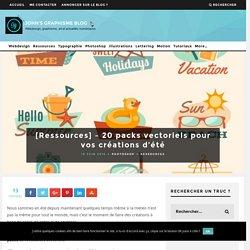 [Ressources] - 20 packs vectoriels pour vos créations d'été