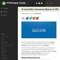 12 nouvelles ressources jQuery et CSS
