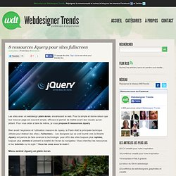 8 ressources Jquery pour sites fullscreen