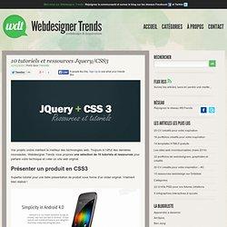 10 tutoriels et ressources Jquery/CSS3