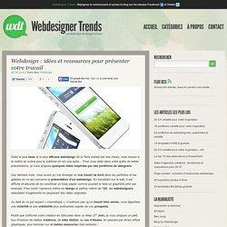 Webdesign : idées et ressources pour présenter votre travail
