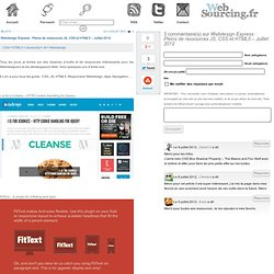 [Webdesign Express] Pleins de ressources JS, CSS et HTML5 – Juillet 2012