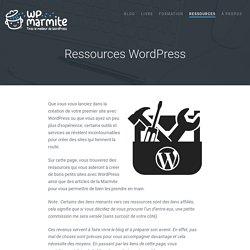 31 Ressources WordPress pour créer votre site