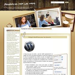 Widget WordPress pour les devoirs