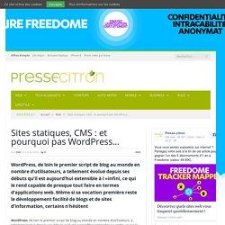 Ressources pour utiliser WordPress comme CMS et sites statiques