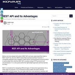 REST API and Its Advantages - Kovair Blog