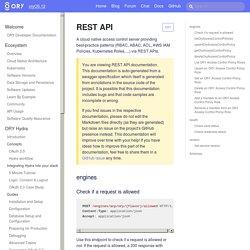 REST API · ORY Documentation