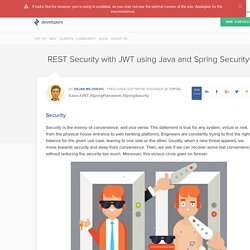 REST Security with JWT, Spring Security and Java