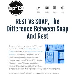REST vs SOAP, the difference between soap and rest - spf13.com