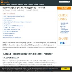 REST with Java (JAX-RS) using Jersey