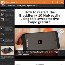 How to restart the BlackBerry 10 Hub easily using this awesome five swipe gesture!