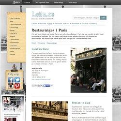 Restauranger ~ Paris