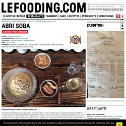 Restaurant Abri Soba à Paris - Le Fooding®