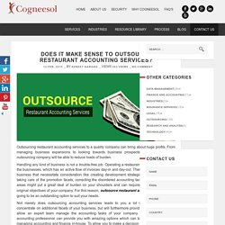 Does it Make Sense to Outsource Restaurant Accounting Services?