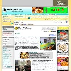 Cocotte Jolie - Restaurant Paris - Resto Français dans le 6 ème arrondissement