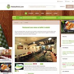 Restaurant avec menu ou buffet à volonté