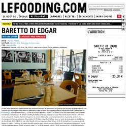Restaurant Baretto di Edgar à Paris
