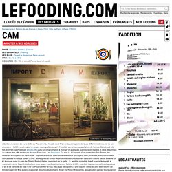 Restaurant CAM à Paris