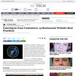 Catering to Your Customers: 15 Restaurant Website Best Practices