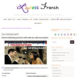 Au restaurant - French listening comprehension